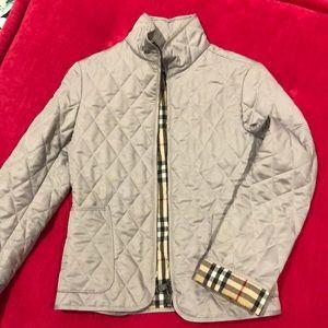 Gray Burberry coat